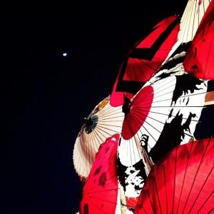 山鹿 百華百彩 灯り 和傘 写真