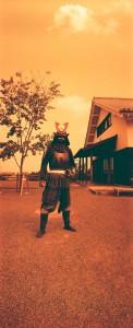 HORIZONとRedScale100で熊本城の甲冑武者を撮影